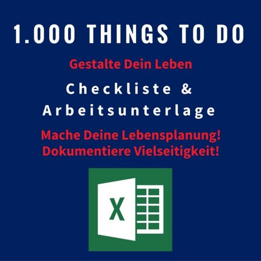 Löffelliste mit 1000 Dingen und Aktivitäten im Leben