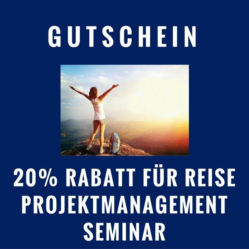 20% Rabattgutschein für Reise-Projektmanagement Seminar
