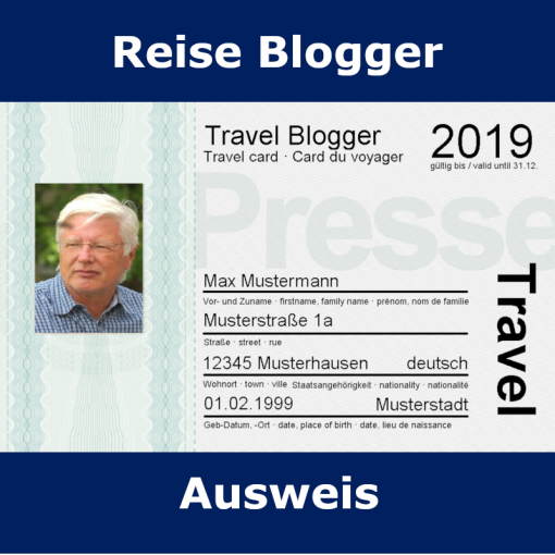 Travel Blogger Ausweis