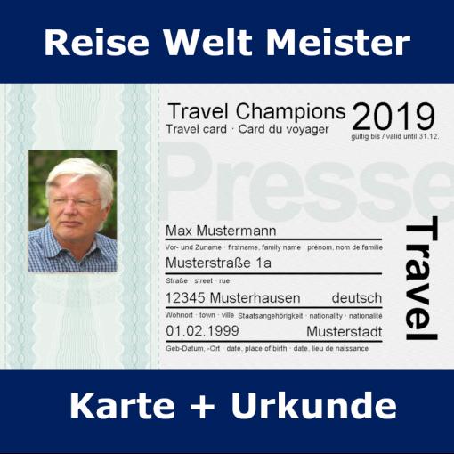 Reiseweltmeister Karte